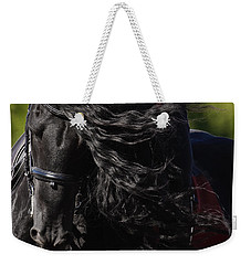 Weekender Tote Bag featuring the photograph Friesian Beauty D8197 by Wes and Dotty Weber