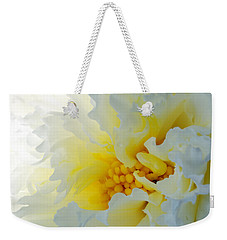 Weekender Tote Bag featuring the photograph Frilling by Wendy Wilton