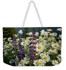 Weekender Tote Bag featuring the photograph Frisco Flowers by Lynn Bauer