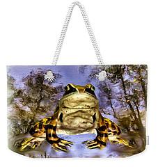 Weekender Tote Bag featuring the digital art Frog by Daniel Janda