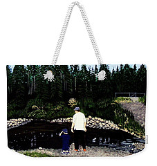 Frog Hunting With Poppy Weekender Tote Bag by Barbara Griffin