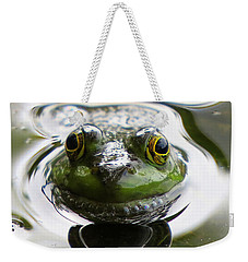 Weekender Tote Bag featuring the photograph Frog Kiss by Dianne Cowen