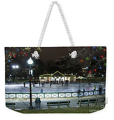 Frog Pond Ice Skating Rink In Boston Commons Weekender Tote Bag