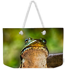 Frog Prince Or So He Thinks Weekender Tote Bag by Bob Orsillo