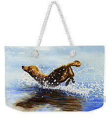 Frolicking Dog Weekender Tote Bag