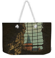 Weekender Tote Bag featuring the drawing From A Castle by Meg Shearer