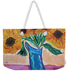 From A Fair And Sunny Field Weekender Tote Bag