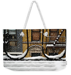 From My Fire Escape - Arches In The Snow Weekender Tote Bag