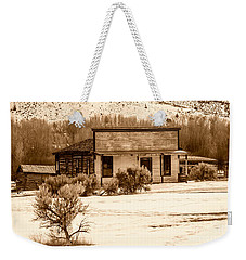 From Saloon To Store Front And Home In Sepia Weekender Tote Bag by Sue Smith