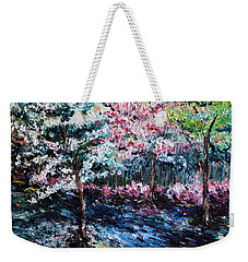 Weekender Tote Bag featuring the painting From The Earth by Meaghan Troup