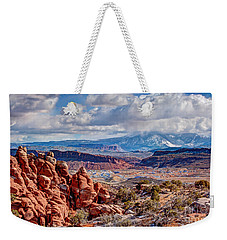 From The Fiery Furnace Weekender Tote Bag by Bob and Nancy Kendrick