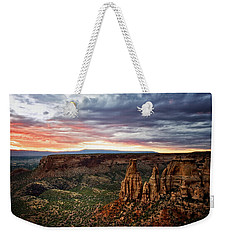 From The Overlook - Colorado National Monument Weekender Tote Bag by Ronda Kimbrow