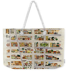 From Union Square To Madison Square Weekender Tote Bag by AFineLyne