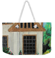 Weekender Tote Bag featuring the painting Front Door 1 by Jeanne Fischer