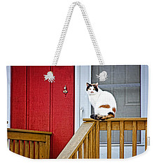 Front Porch Cat Weekender Tote Bag