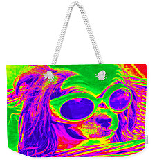 Front Seat Driver Pop Art - Puppy Mania Weekender Tote Bag