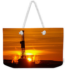 Frontier Nineteen Xto Energy Culbertson Montana Weekender Tote Bag by Jeff Swan
