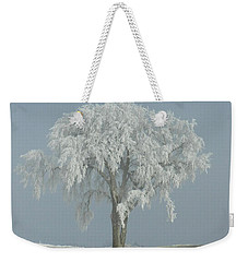 Frost Covered Lone Tree Weekender Tote Bag