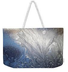 Frost Ferns Weekender Tote Bag