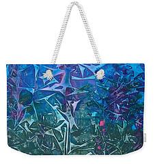 Lagoon Bloom Weekender Tote Bag by Heather  Hiland