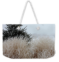 Frosted Grasses Weekender Tote Bag