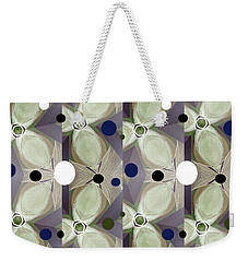 Frosted Green Flower Weekender Tote Bag