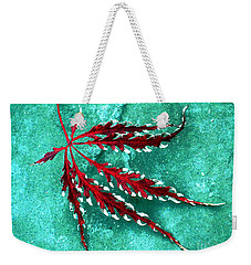 Frosted Japanese Maple Weekender Tote Bag by Nina Silver