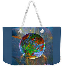 Weekender Tote Bag featuring the painting Frosted Still by Robin Moline