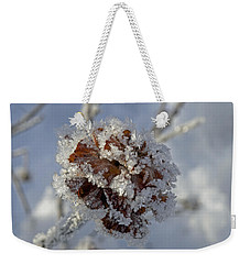 Frosted Willow Rose Weekender Tote Bag