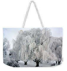 Frosted Willow Trees Weekender Tote Bag