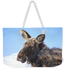 Frosty Moose Weekender Tote Bag