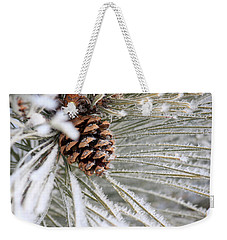 Frosty Norway Pine Weekender Tote Bag