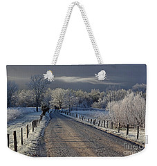 Frosty Sparks Lane Weekender Tote Bag