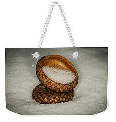 Frozen Acorn Cupule Weekender Tote Bag by Paul Freidlund