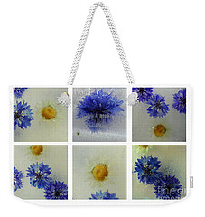 Frozen Blue Weekender Tote Bag