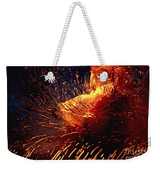 Frozen Carnation Weekender Tote Bag by Randi Grace Nilsberg