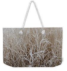 Frozen Grass Weekender Tote Bag