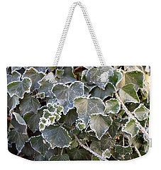 Weekender Tote Bag featuring the painting Frozen Hedera Helix 2 by Felicia Tica