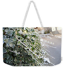 Weekender Tote Bag featuring the painting Frozen Hedera Helix by Felicia Tica