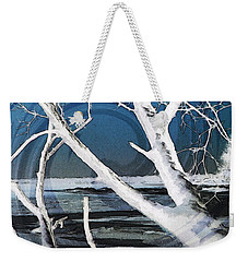 Weekender Tote Bag featuring the photograph Frozen In Time by Shawna Rowe