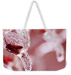Weekender Tote Bag featuring the photograph Frozen Jewel  by Debbie Oppermann
