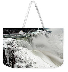 Frozen Niagara And Bridal Veil Falls Weekender Tote Bag