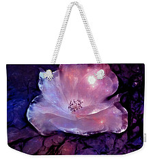 Frozen Rose Weekender Tote Bag by Lilia D