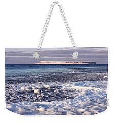 Frozen Shore Weekender Tote Bag