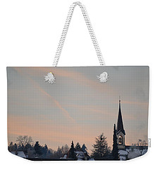 Weekender Tote Bag featuring the photograph Frozen Sky 2 by Felicia Tica