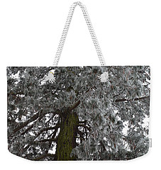 Weekender Tote Bag featuring the photograph Frozen Tree 2 by Felicia Tica