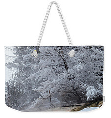 Weekender Tote Bag featuring the photograph Frozen Tree by Michael Chatt