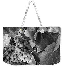 Fruit -grapes In Black And White - Luther Fine Art Weekender Tote Bag