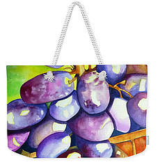 Purple Grapes Weekender Tote Bag
