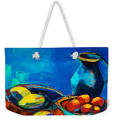 Weekender Tote Bag featuring the painting Fruit Palette by Elise Palmigiani